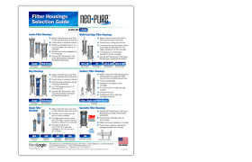 Neo-Pure Filter Housings Selection Guide