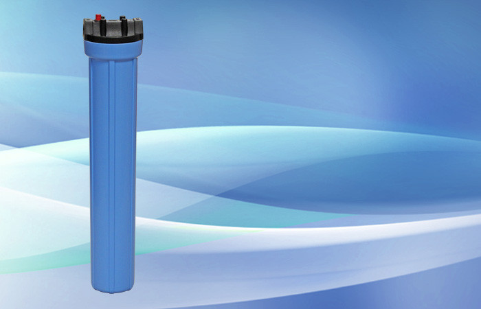 Pentek Standard Filter Housing 20″ Blue Sump 3/4″ Valve in Head w/PR