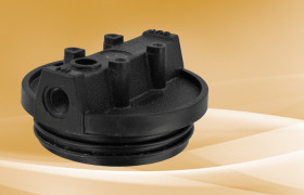 Pentek Black Cap for Slim Line Housings 1/4